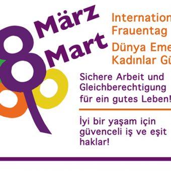 8 Mart Dünya Emekçi Kadınlar Günü Kutlamasında Buluşalım